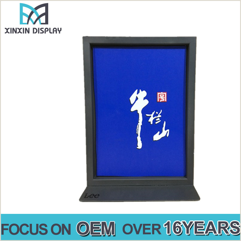 Sign Displays Stands Metal Tabletop Poster Display Double Sides Pop Sign Holder