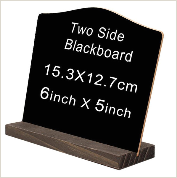 Sign Displays Stands Mini Double Side Chalkboard Signs Vintage Style Wood Base Stand Buffet Bar Message Display Signs Home Novelty Items Decoration Funny Toys Gift Funny