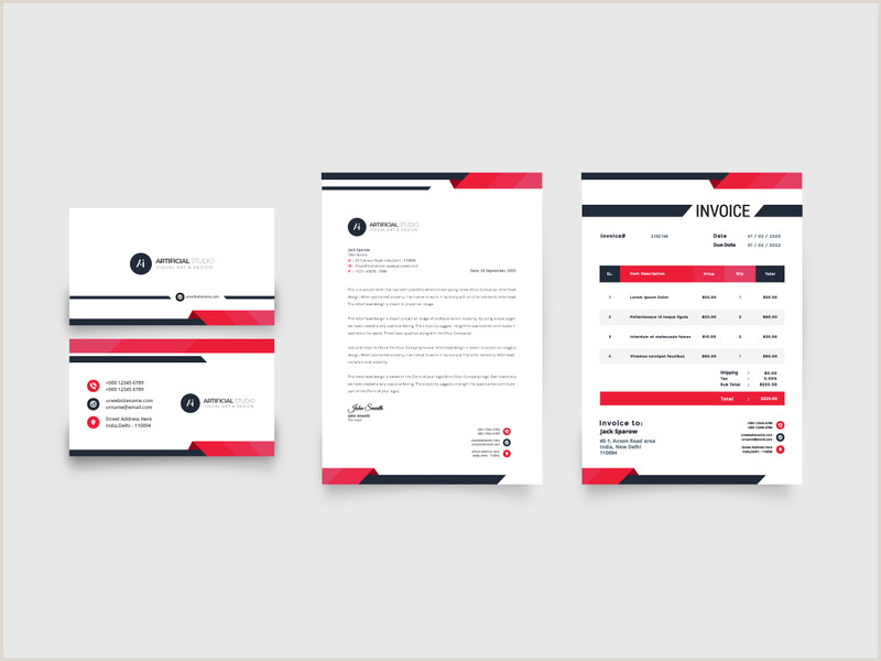 Simple Business Card Design 254 Invoices Design Inspiration Ideas And Examples Muzli