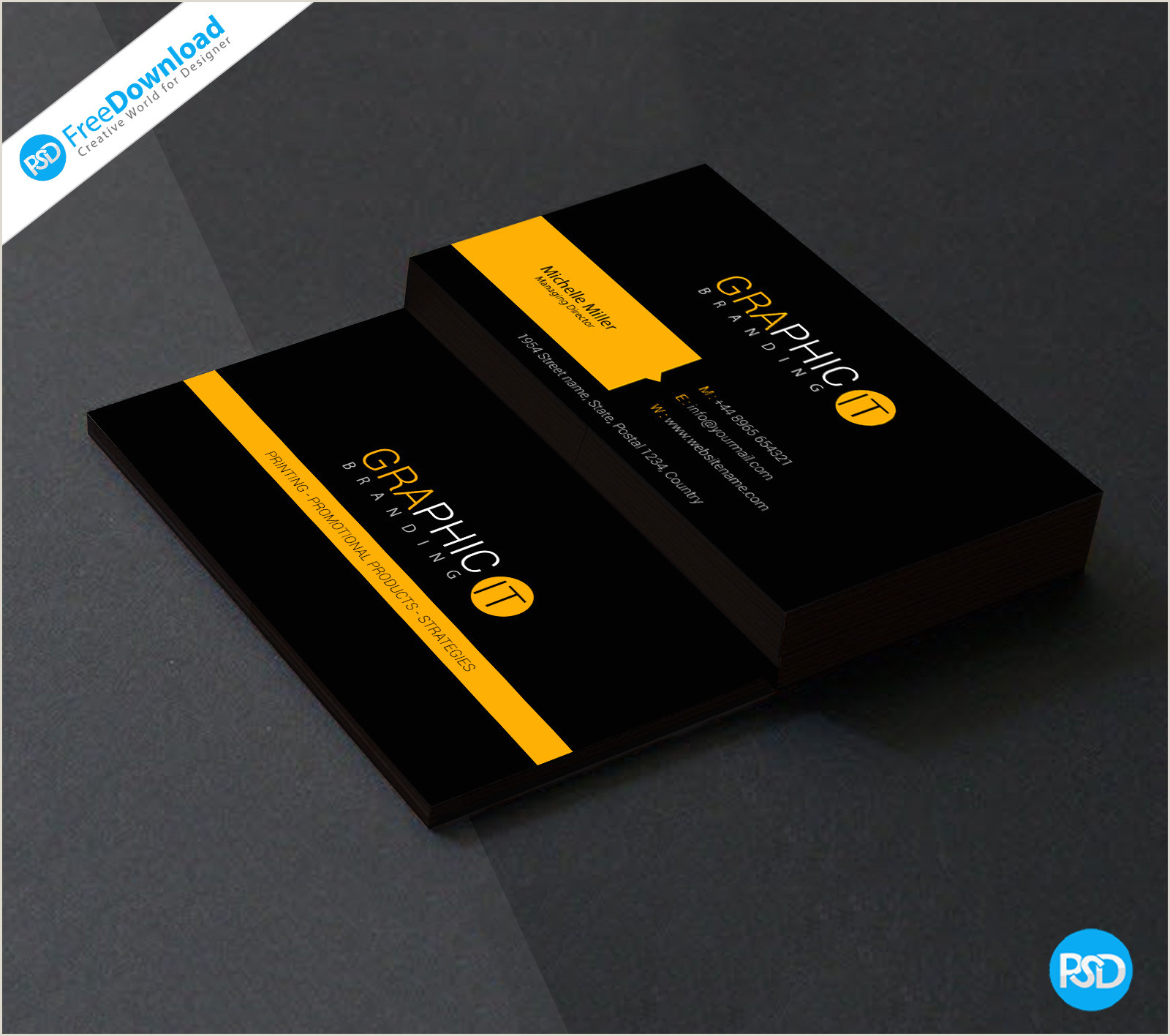 Simple Business Card Template Free 150 Free Business Card Psd Templates