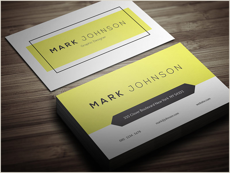 Simple Business Card Template Free Free Business Card Designs Templates