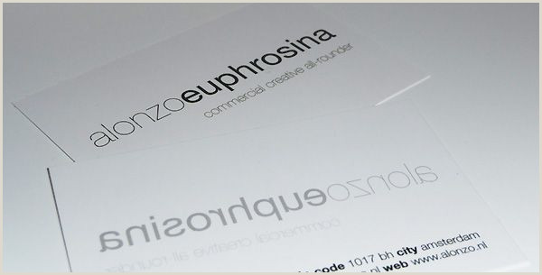 Simple Calling Card Alonzo Euphrosina