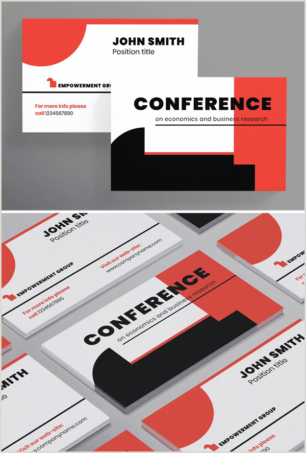 Simple Personal Business Cards Conference Business Card