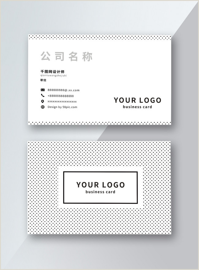Simple Personal Business Cards Fresh And Simple Personal Business Card Design Template
