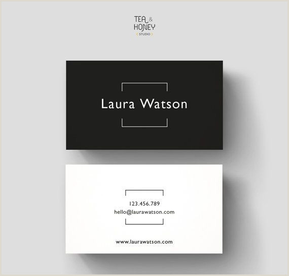 Simple Personal Business Cards Minimalistic Business Card Premade Design Black & White