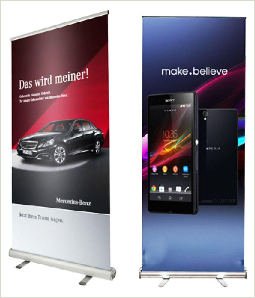 Size Of Retractable Banner Aluminium Roll Up Standee