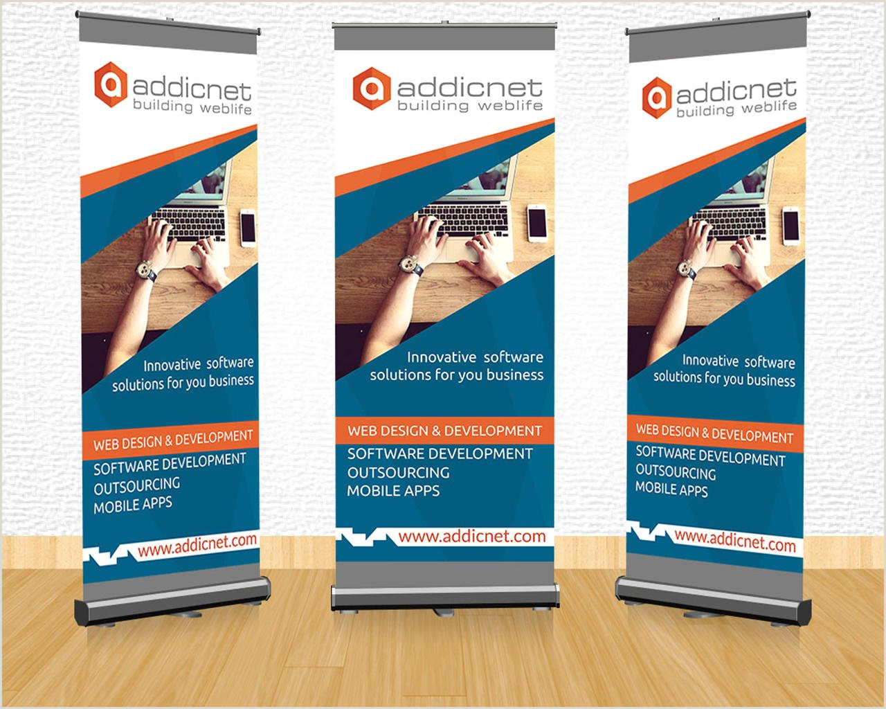 Size Of Retractable Banner Roll Up Modern Design By Sremac On Envato Studio