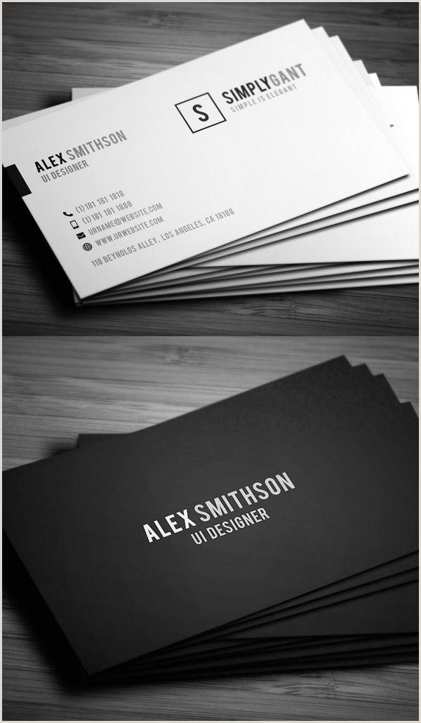 Sleek Business Cards 25 New Modern Business Card Templates Print Ready Design