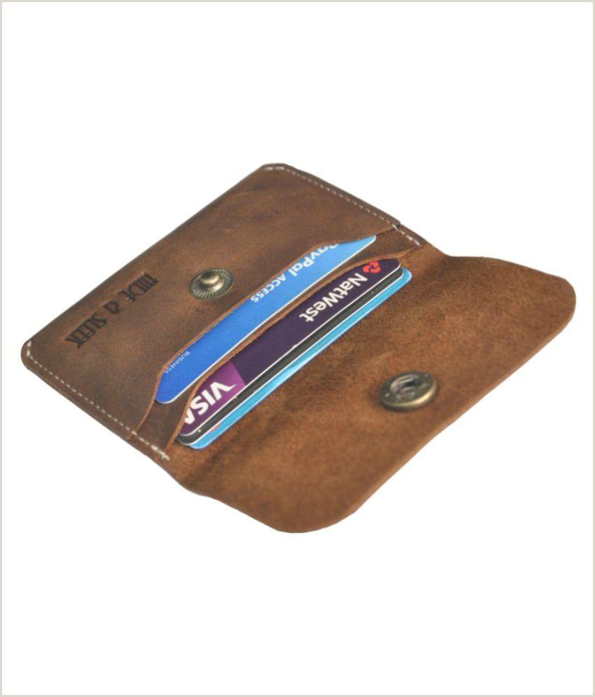 Sleek Business Cards Handmade Leather Men S Business Credit Card Holder Wallet