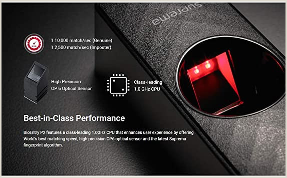 Sleek Business Cards Suprema Bioentry P2 Pact Ip Fingerprint Biometric Access Control Device Bep2 Od & Brief English Manual