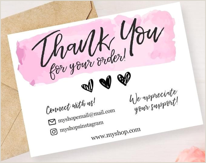 Small Order Business Cards Instant Download Editable And Printable Thank You Card For