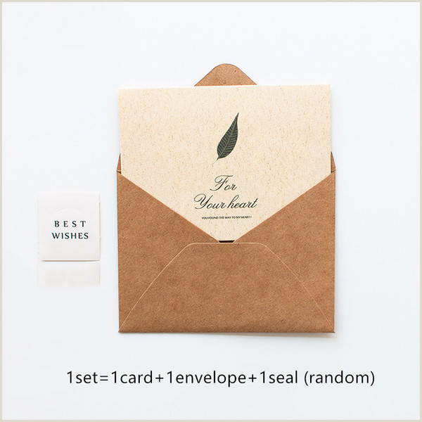 Small Order Business Cards Vintage Blessing Card Small Card Paper Envelope Business Message Envelope Manual Diy Childrens Day Greeting Customizable Cards Customizable Greeting
