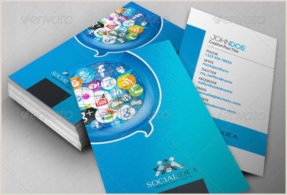 Social Business Cards 24 Nice Social Media Business Card Psds – Design Freebies