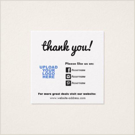 Social Business Cards Customer Appreciation Social Media Icons