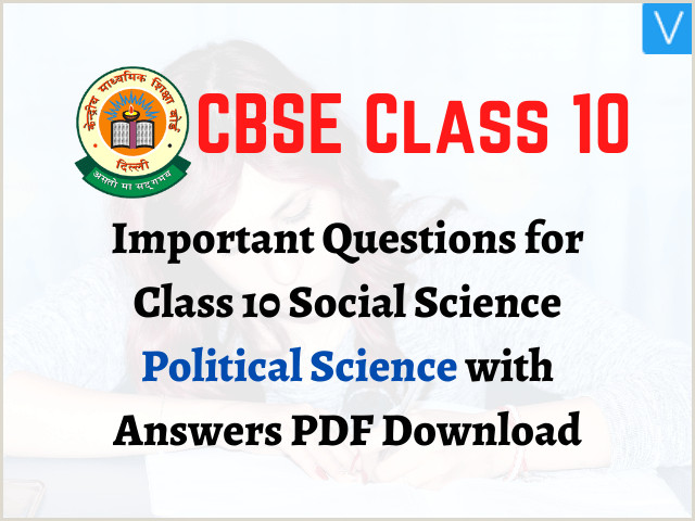 Social Business Cards Important Questions For Class 10 Social Science Political