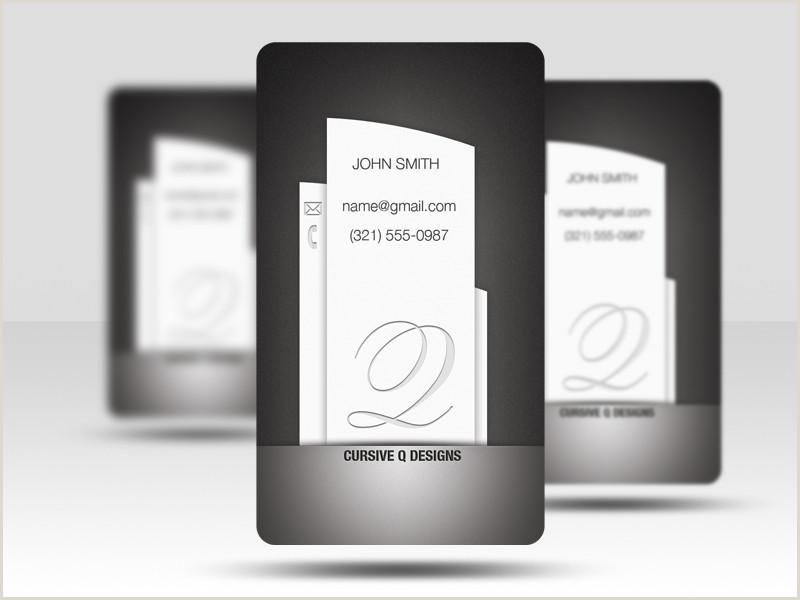 Social Media Business Card Template Social Media Business Card Template Cursive Q Designs