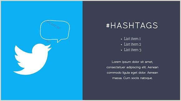Social Media Business Card Template Social Media Report Presentation Template