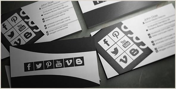 Social Media Business Card Templates 15 Stylish Social Media Business Cards Designs