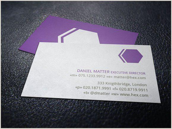 Social Media Business Card Templates Hexagon Development Business Card