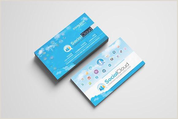 Social Media Business Card Templates Social Media Business Card