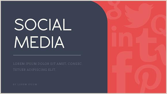 Social Media Business Card Templates Social Media Report Presentation Template