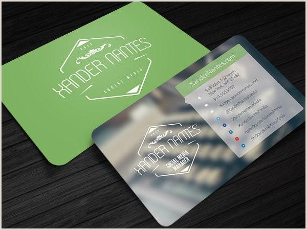 Social Media Business Cards Template 13 Social Media Business Card Templates Psd Word Ai