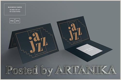 Social Media Business Cards Template Jazz Festival Business Card Template Avaxgfx All