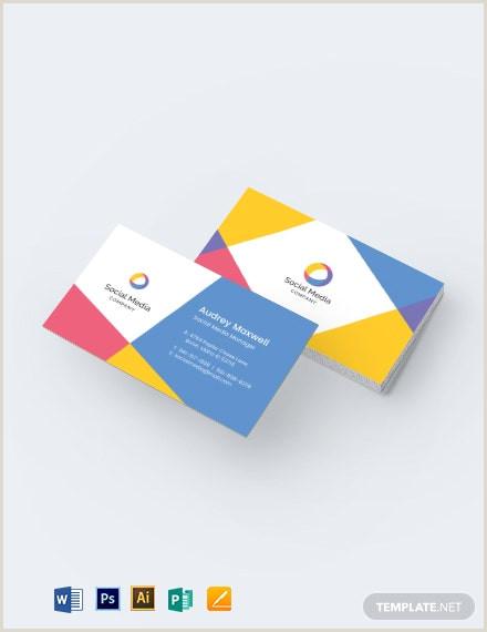 Social Media Business Cards Template Social Media Business Card Template Word Doc