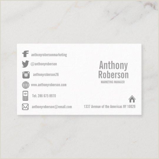 Social Media Symbols For Business Cards Custom Template With Social Media Symbols Business Card