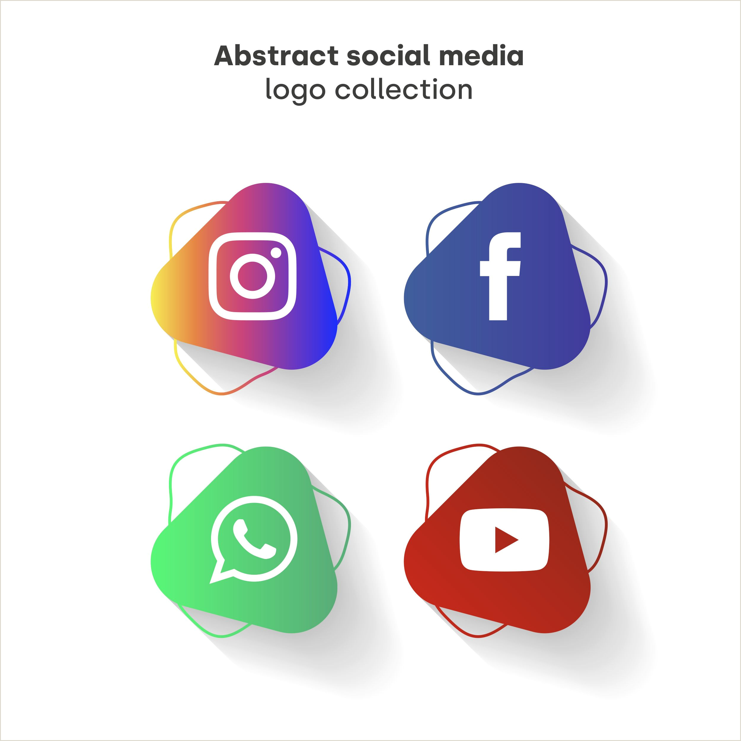 Social Media Symbols For Business Cards Download Abstract Social Media Logo Collection For Free