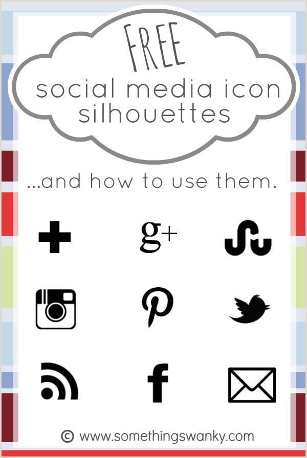 Social Media Symbols For Business Cards Free Social Media Icon Silhouettes And How To Use Them In