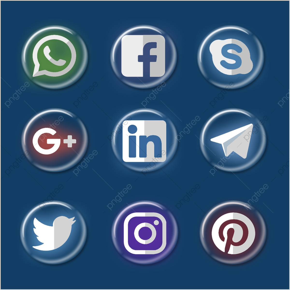 Social Media Symbols For Business Cards Social Media Icons Set Business Cards Visiing Card Png