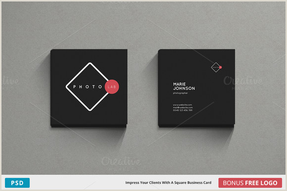 Square Business Card Template Word Lab Business Card Square