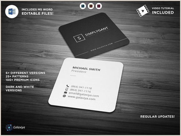 Square Business Card Template Word Minimal Square Business Cards