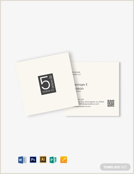 Square Business Card Template Word Square Minimal Business Card Template Word Doc
