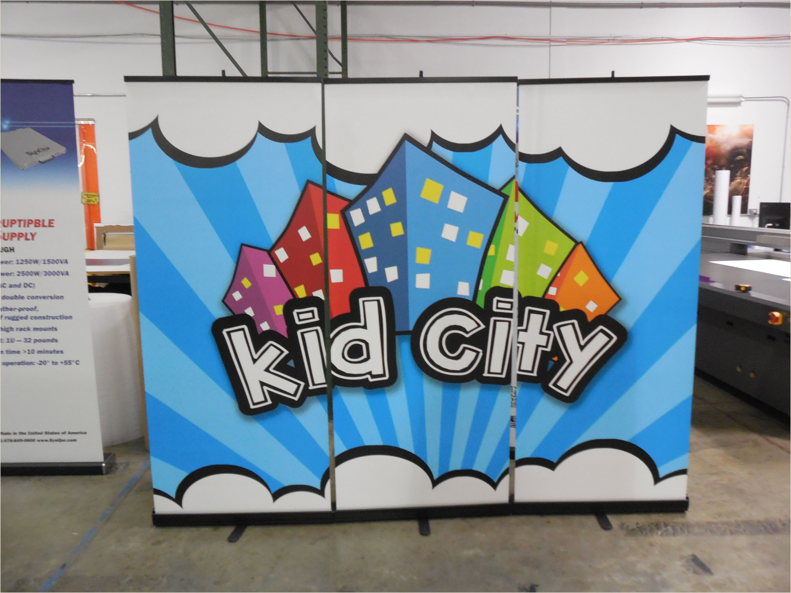 Stage Banner Stands Create A Kids Ministry Backdrop Using Three Retractabe