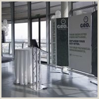 Stage Banner Stands D4 Linked Banner Display
