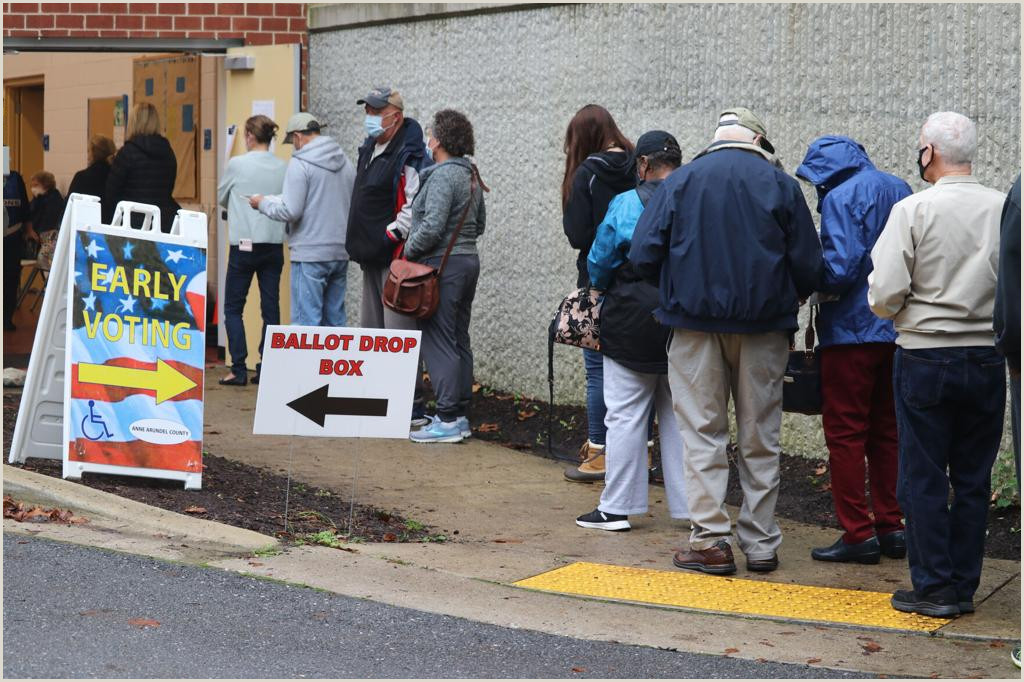 Stage Banner Stands Voters In Some States Unable To Cast Early Ballots In Person