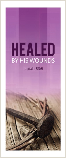 Stand Alone Banners Easter Series X Stand Banner Healed By His Wounds