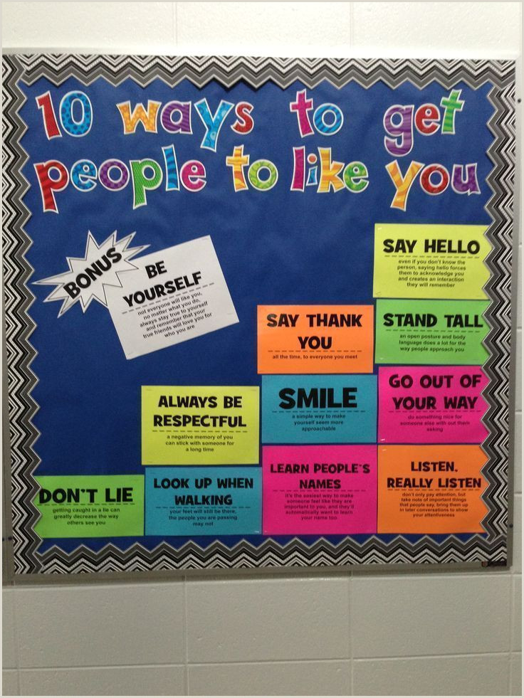 Stand Alone Display Boards Bulletin Board 10 Ways To Get People To Like You
