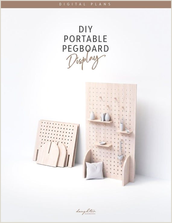 Stand Alone Display Boards Diy Portable Pegboard Display Digital Plans In 2020