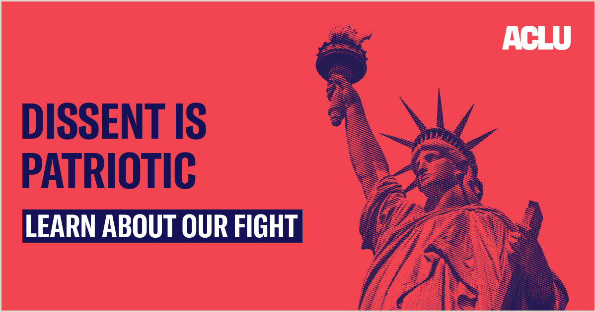 Stand Up Banner Designs American Civil Liberties Union