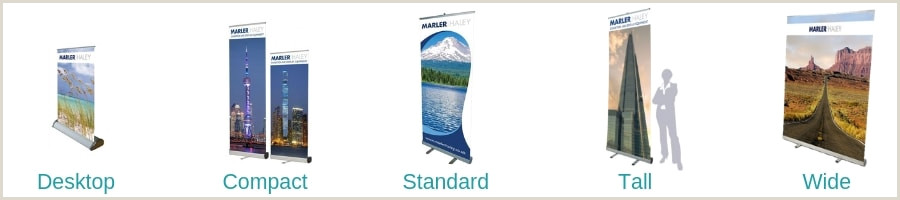 Stand Up Banner Dimensions Pull Up Banner Size Guide