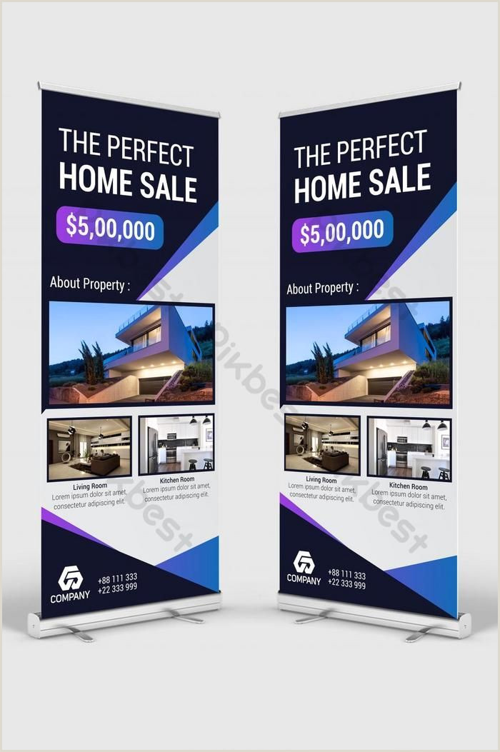 Stand Up Banner Dimensions Real Estate Roll Up Banner & Banner Stand Design