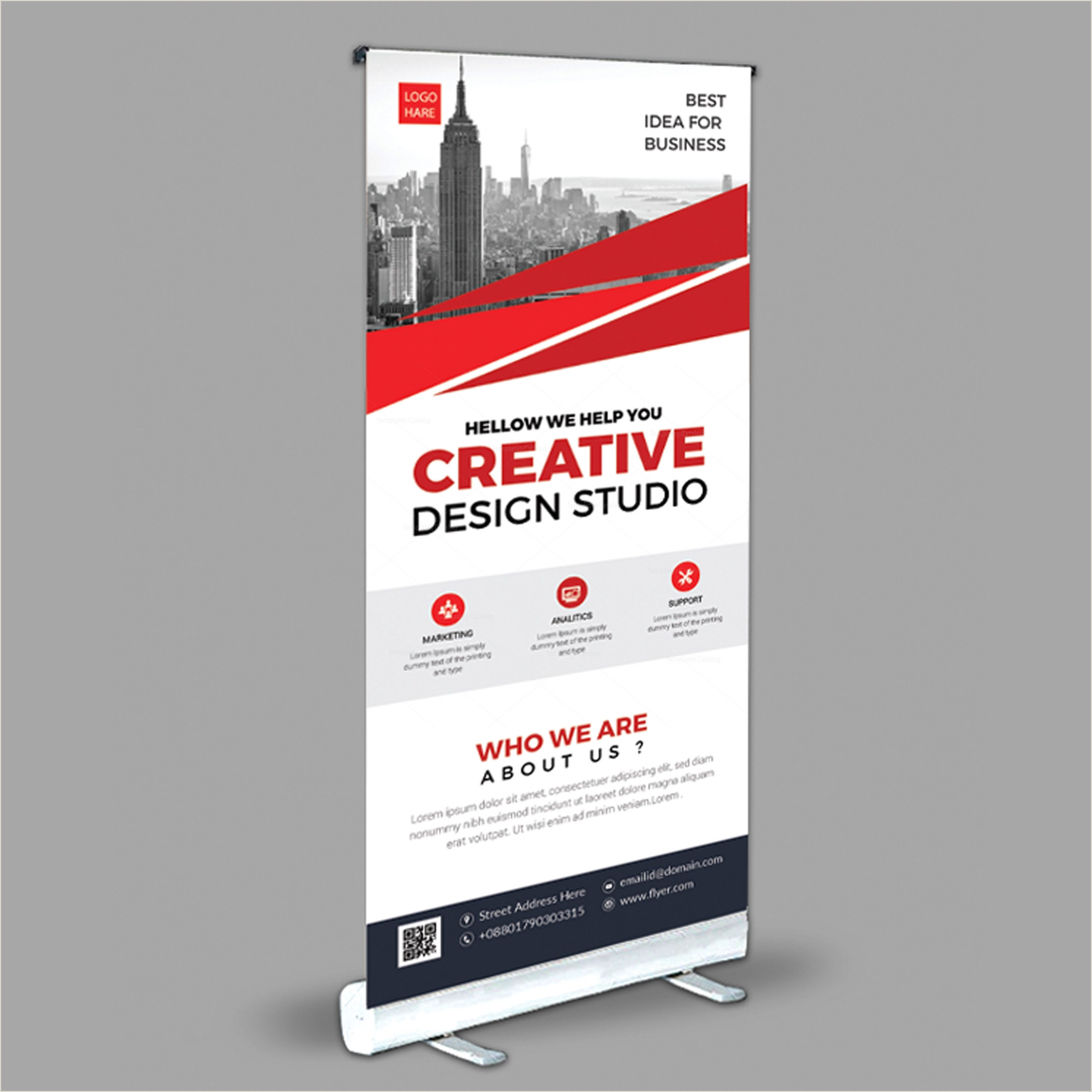 Stand Up Banners Creative Roll Up Banner Design Template