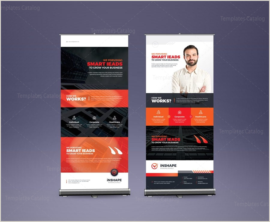 Stand Up Banners Eps Corporate Roll Up Banner Design Template