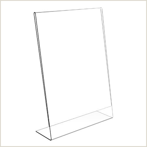 Stand Up Poster Display 10 X A6 Poster Menu Holder Single Sided Portrait Angled Leaflet Display Stand Plastic Pds8000 Free Delivery…