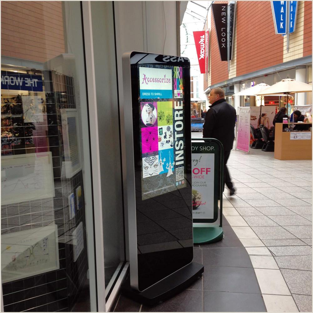 Stand Up Signage 50 Slimline Freestanding Digital Poster