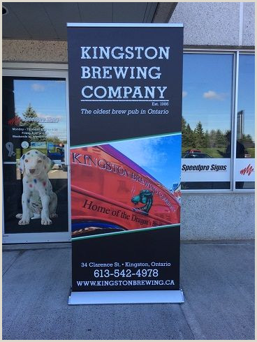 Stand Up Signage Speedpro Signs Kingston Pleted This Kingston Brewing