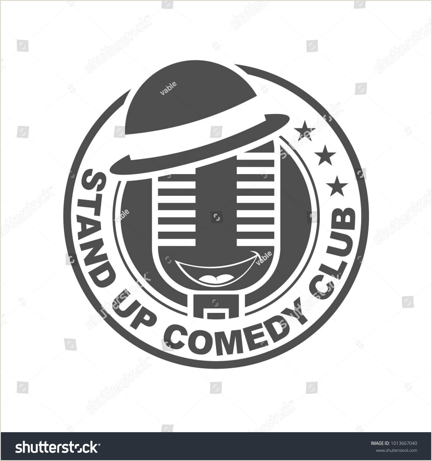 Stand Up Signs Stand Edy Logo Design Template Stock Vector Royalty Free